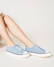 Sneakers de lona con logotipo Denim Mujer 211TCT170-0S
