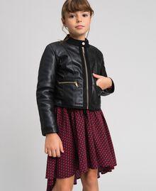 Байкерская куртка из искусственной кожи Красный Ruby Wine Pебенок 192GJ2010-02