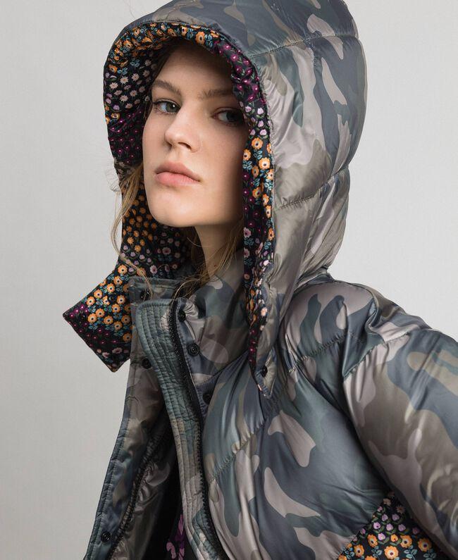 Doudoune courte avec imprimé camouflage et floral Imprimé Camouflage / Fleurs Femme 192TT2180-01