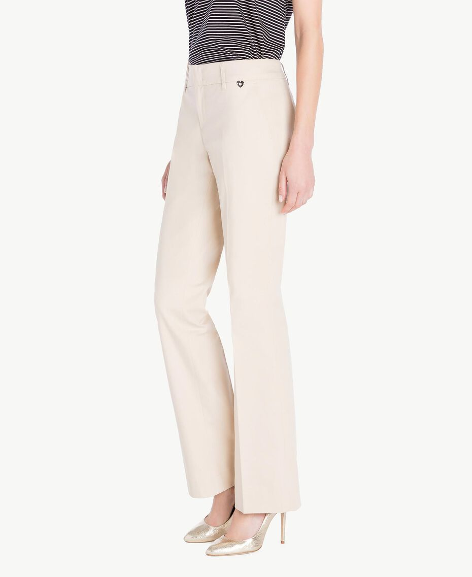 Pantalone canvas Ecrù Donna PS824S-02