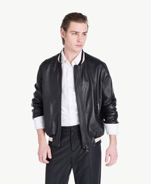 Leather bomber Black Man US82AB-01