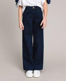 Jeans mit weitem Bein Dunkles Denim Kind 191GJ2600-02
