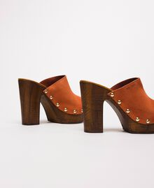 Suede sabots Terracotta Woman 201MCT01G-04