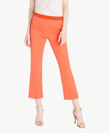 Poplin flared trousers Orange Woman TS8212-01