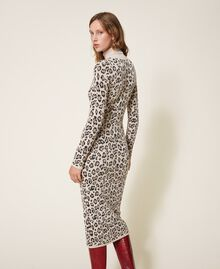 Animal print jacquard sheath dress Animal Jacquard Woman 202TT3160-03