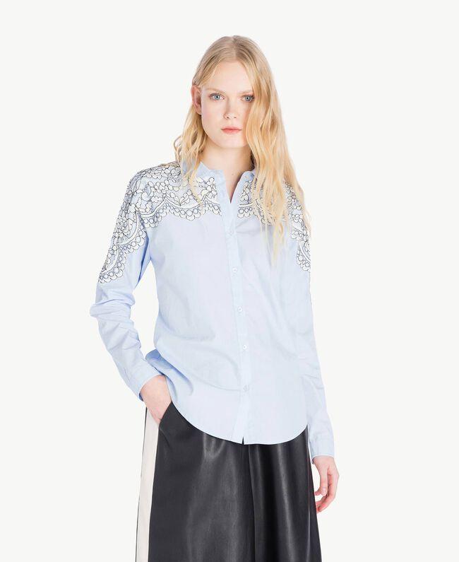 Lace shirt Topaze Sky Blue Woman JS82D2-01