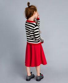 Jupe pantalon en crêpe Rouge Coquelicot Enfant GA82DC-03