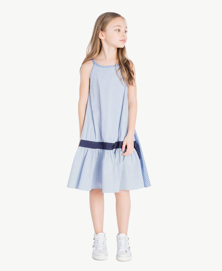 Kleid mit Streifen Jacquard Mix Bastoncini Kind GS82L2-02