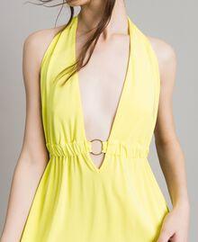 """Kleid aus Kreppjersey mit Zierring """"Lemon Juice"""" Gelb Frau 191LB22CC-04"""