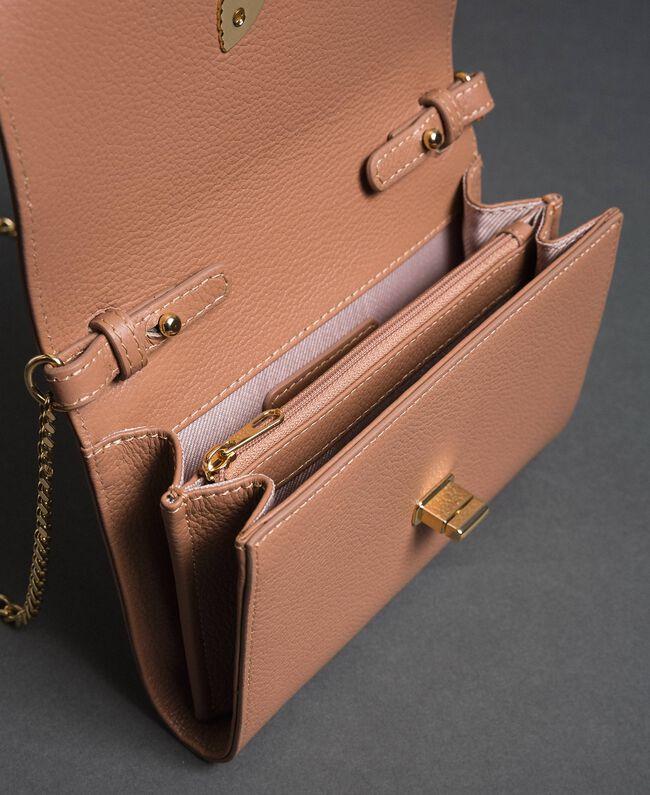 Petit sac à bandoulière avec fermoir papillon Rose Mousse Femme 192TA7022-04