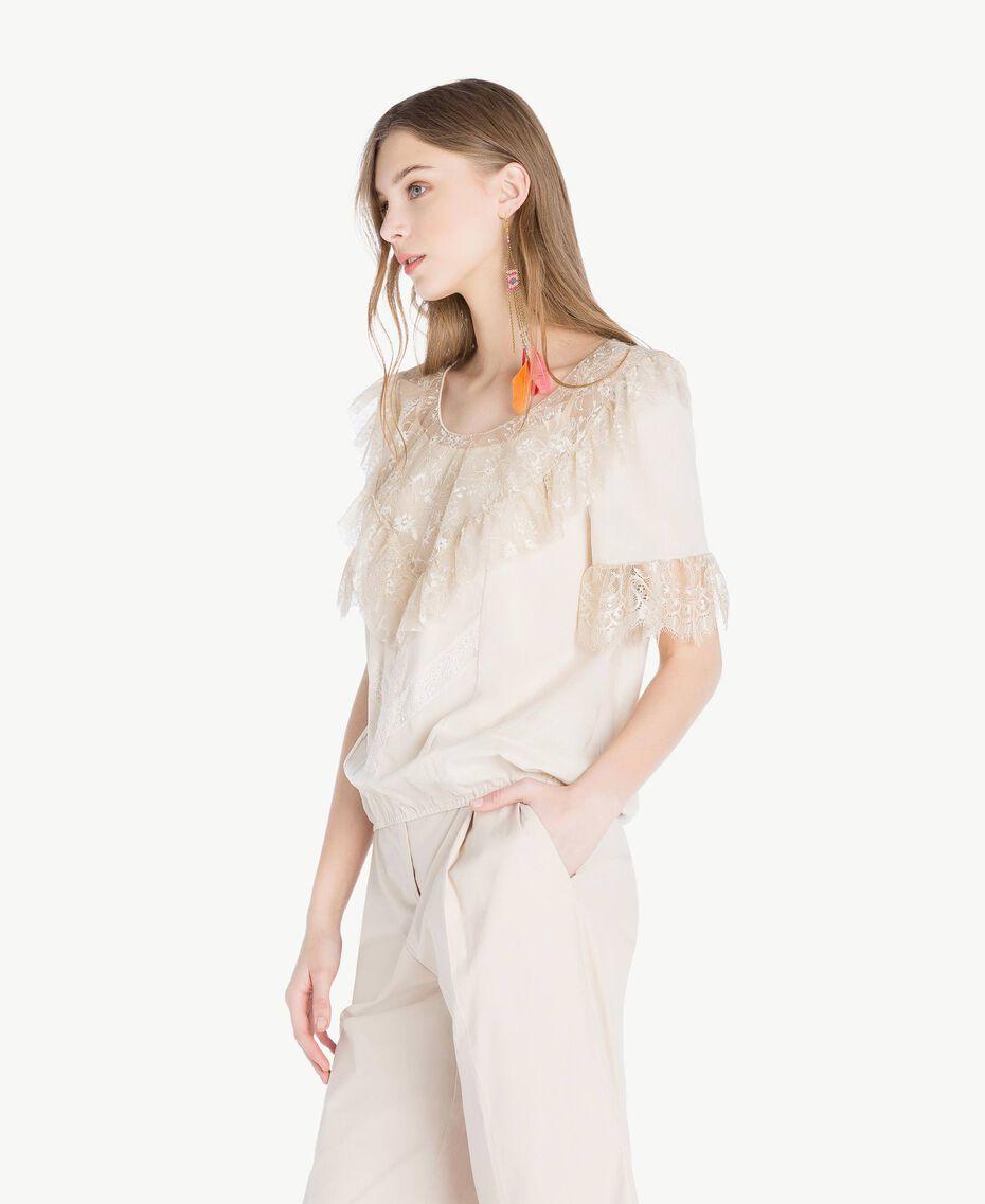 Blouse dentelle Blanc «Calla» Femme TS82HB-02