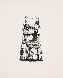 Printed georgette mini dress White Liberty Print / Black Woman 201ST213L-0S