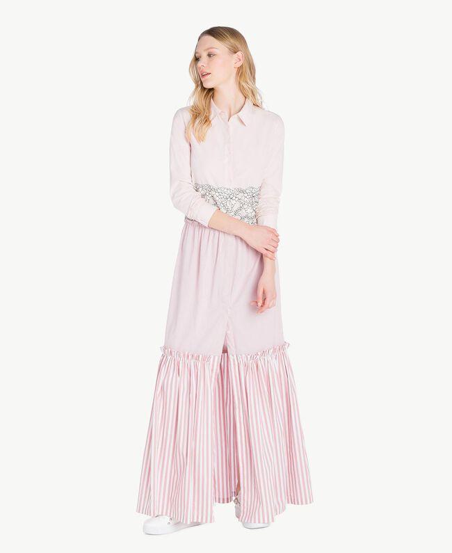 Long patchwork dress Quartz Pink Woman JS82D7-01