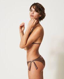 "Bikinitanga aus Lurex mit Schleifen ""Moka Lurex""-Braun Frau 211LMML88-02"