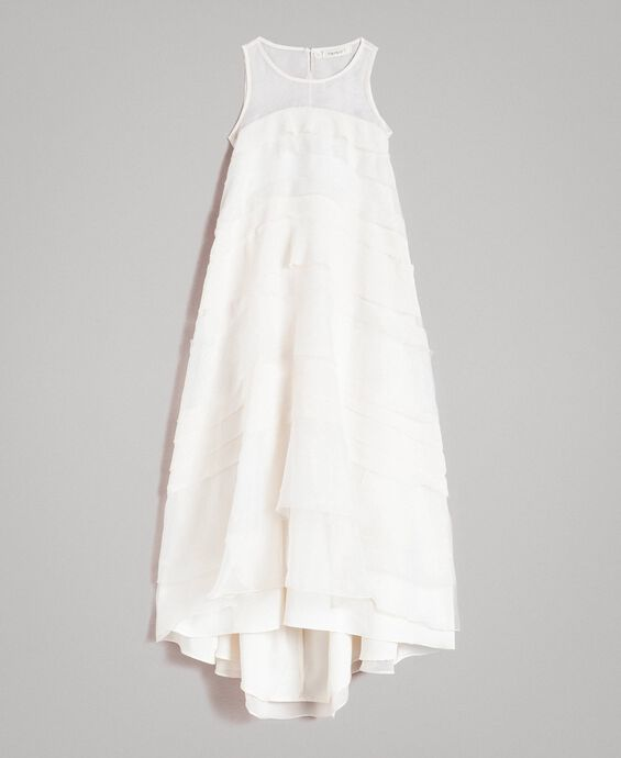 Georgette and organza long dress