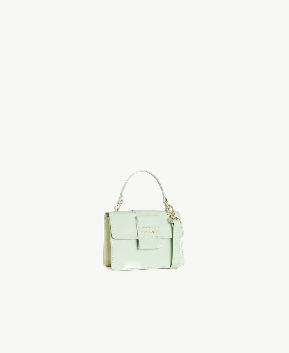 TWINSET Patent leather shoulder bag Fern Green Female OA7TJB-02