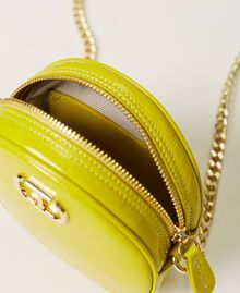 """Leather shoulder bag """"Led"""" Yellow Woman 211TD8032-04"""