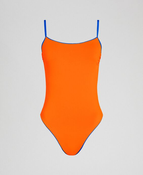 One-piece swimsuit with shoulder straps
