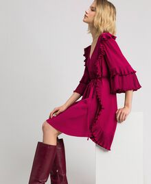 Crêpe de Chine silk blend dress Beet Red Woman 192TP2102-02