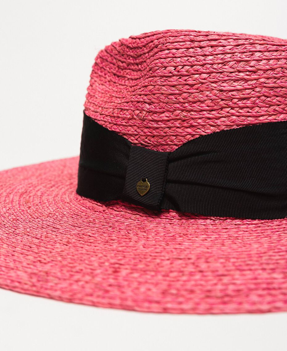 Wide brim straw hat Glam Rose Woman 201TO5400-02