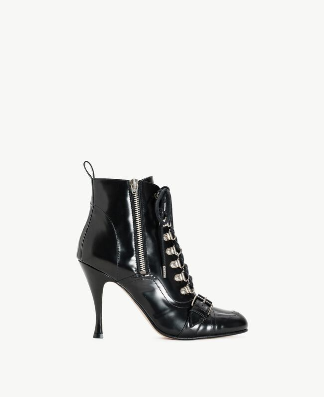TWINSET Patent leather ankle boots Black Woman CS8PMN-01