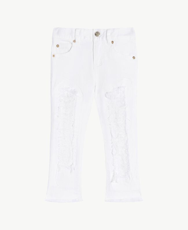 "Skinny trousers ""Papers"" White Child FS82CA-01"