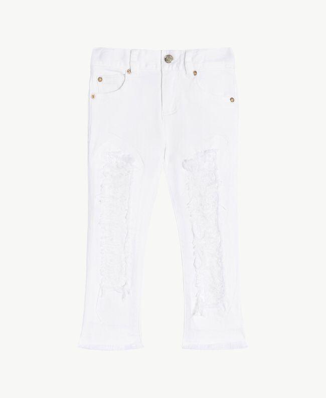 "Pantalon skinny Blanc ""Papers"" Enfant FS82CA-01"