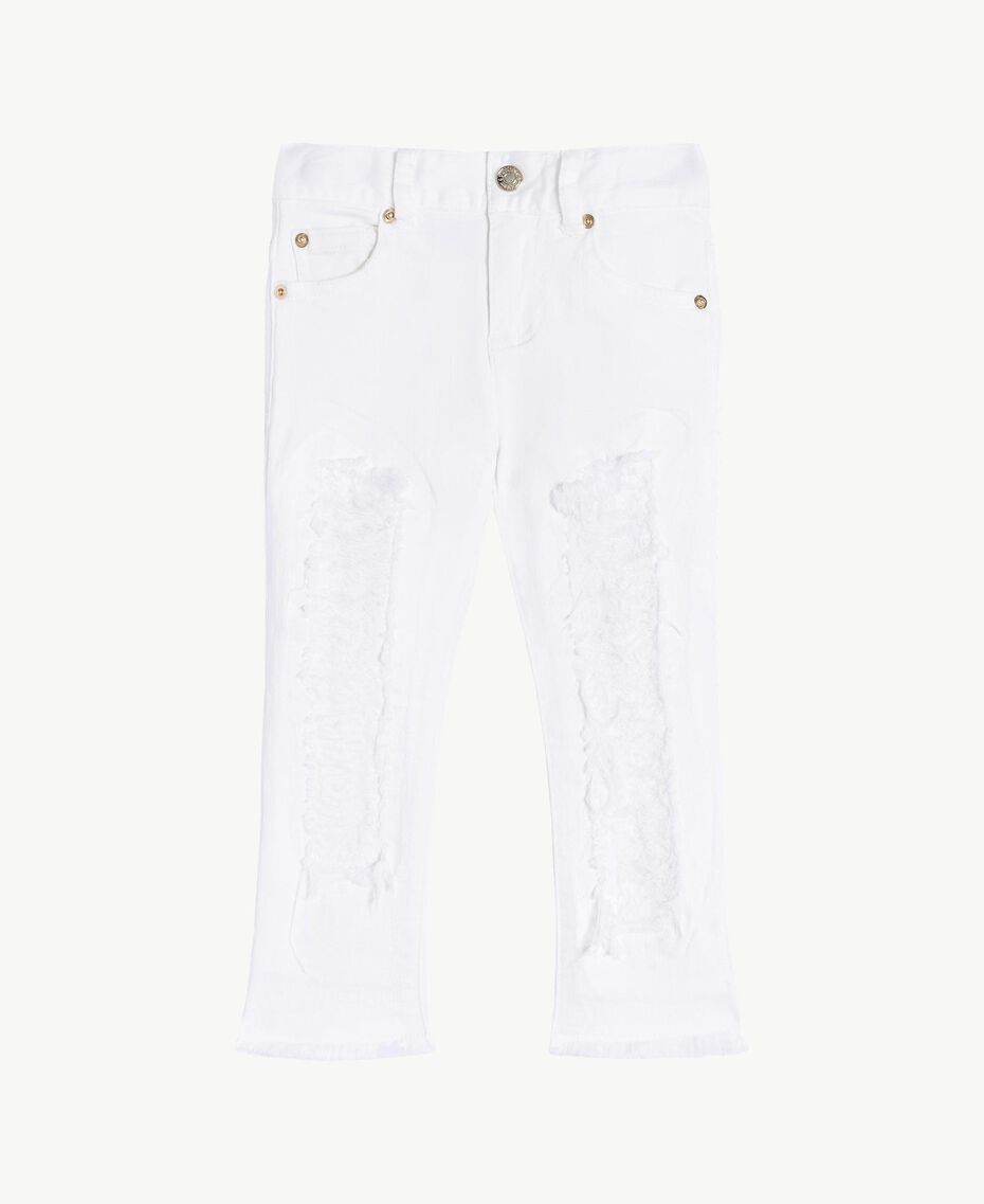 "Pantalon skinny Blanc ""Papers"" Enfant FS82CA-01"