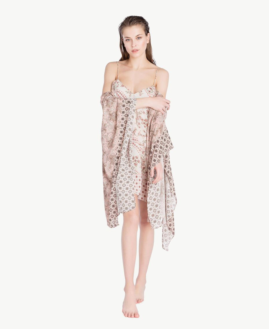 Kleid mit Print Patchprint Vegas Pink Frau BS8AJJ-02