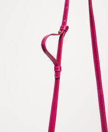 "Small Rebel shoulder bag with croc print ""Black Cherry"" Red Croc Print Woman 201TA7111-05"