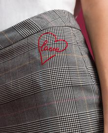 Mid-length Glen plaid skirt Prince of Wales Woman 192MP2283-05