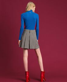 Houndstooth pleated skirt Lily Houndstooth / Creme Caramel Woman 192MT2052-03