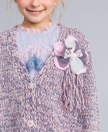 Maxi cardigan in mouliné yarn Multicolour Jacquard Child GA83EN-0S