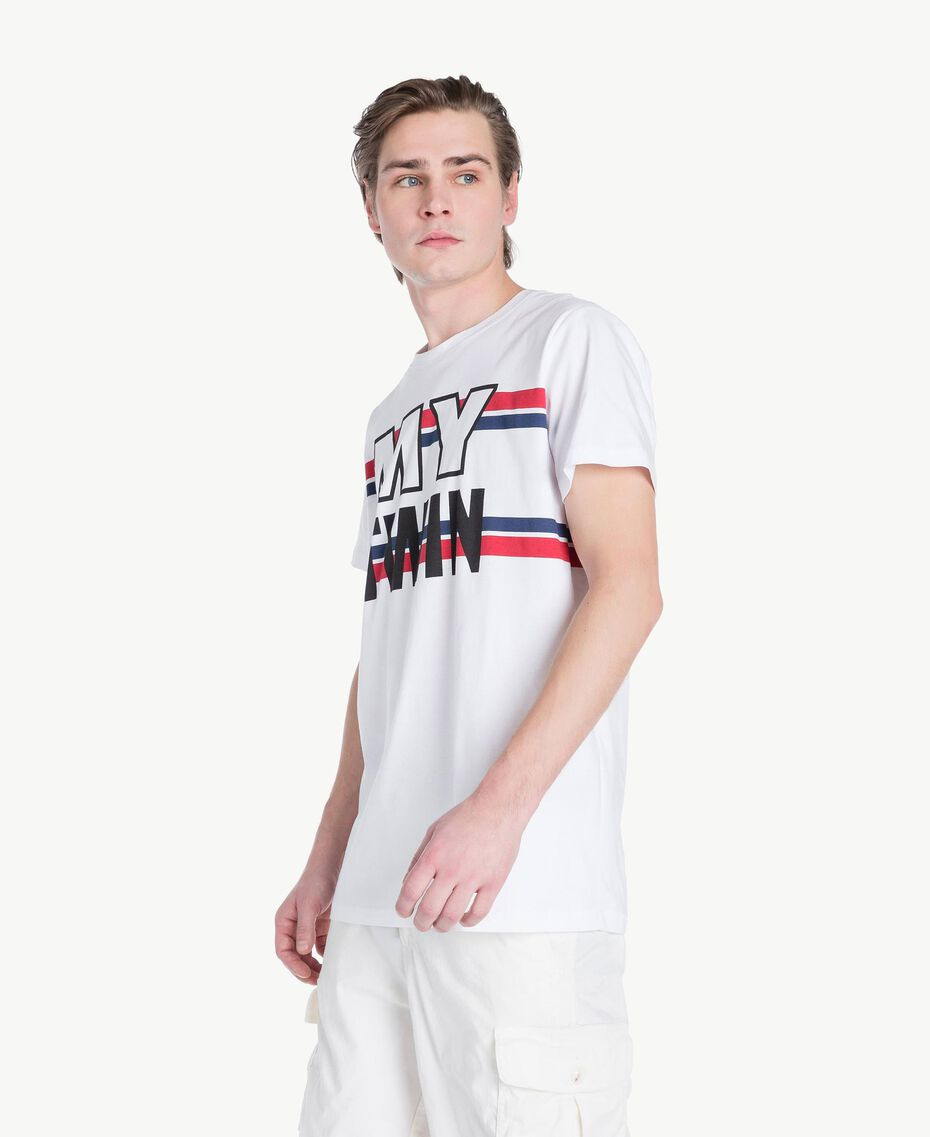 T-shirt logo Blanc Opaque Homme US8228-02
