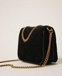 Velvet shoulder bag with patch Venetian Red Woman 202TD8280-04