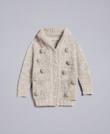 Maxi cardigan en lurex Or Lurex Enfant FA83FP-01