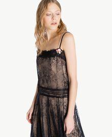 Kleid mit Spitze Schwarz Frau PS821G-04