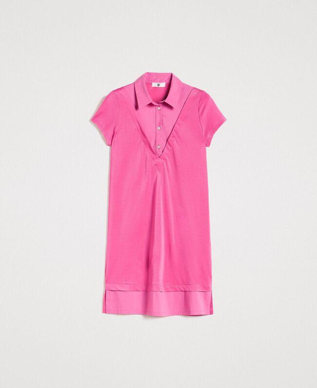 Minirobe chemise en jersey Bouton De Rose Femme 191LL23NN-0S