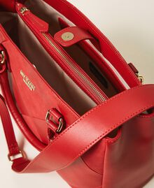 Faux leather shopping bag Cherry Red Woman 202MA7020-05