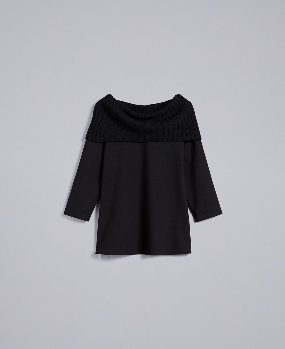 Milan stitch A-line jumper Black Woman PA8215-0S