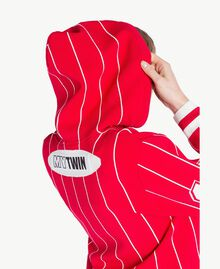 Cropped top Two-tone Cherry Red / Optical White Woman JS83HP-04
