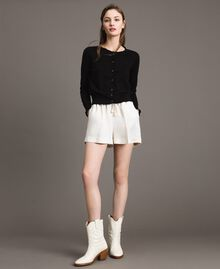 Linen blend shorts White Snow Woman 191TP2205-0T