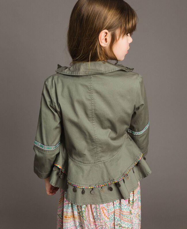 Blouson en coton avec mini médailles Vert Toundra Enfant 191GJ2070-03