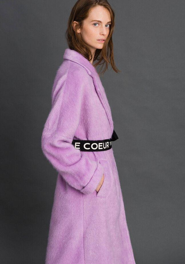 Manteau croisé avec revers et ceinture