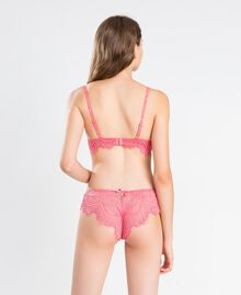 Scalloped lace Brazilian briefs Royal Pink Pink Woman IA8C77-03