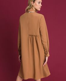 "Sequin shirt dress ""Sequoia"" Beige Woman 192ST209C-03"