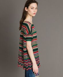 Maxi striped lurex jumper Multicolour Striping Woman 191ST3141-02