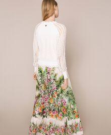 Jupe longue avec imprimé floral Imprimé Jungle Fleurs Neige Femme 201TT2484-03