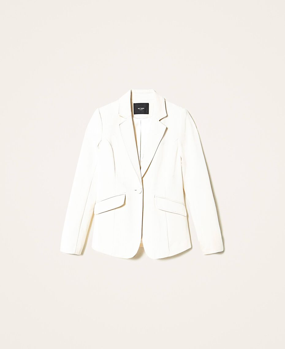 Blazer with pockets Creamy White Woman 202MP2293-0S