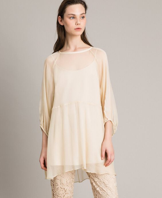 Crepon and georgette dress